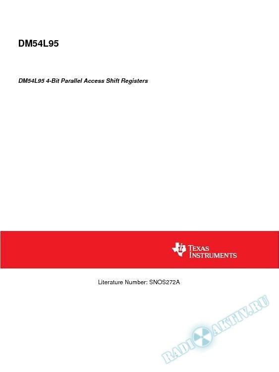 DM54L95 4-Bit Parallel Access Shift Registers (Rev. A)