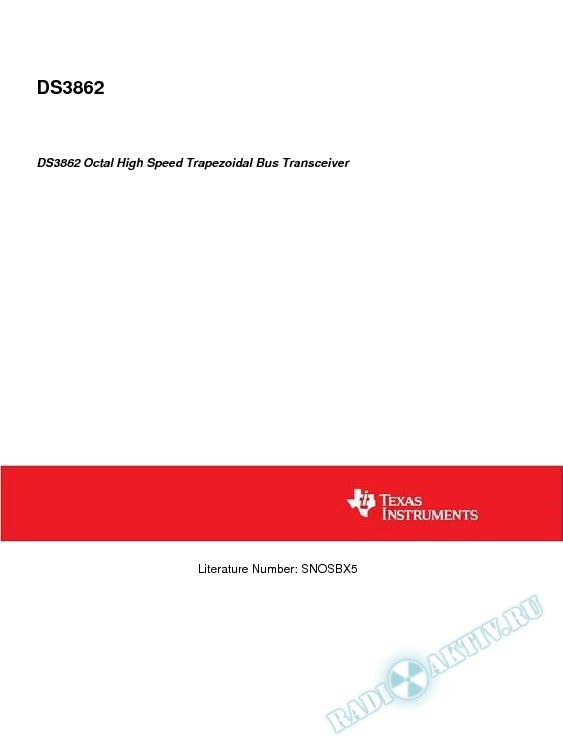 DS3862 Octal High Speed Trapezoidal Bus Transceiver