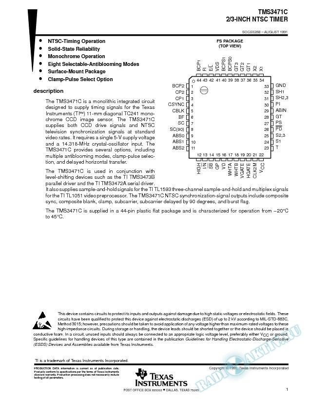 2/3-Inch NTSC Timer (Rev. B)