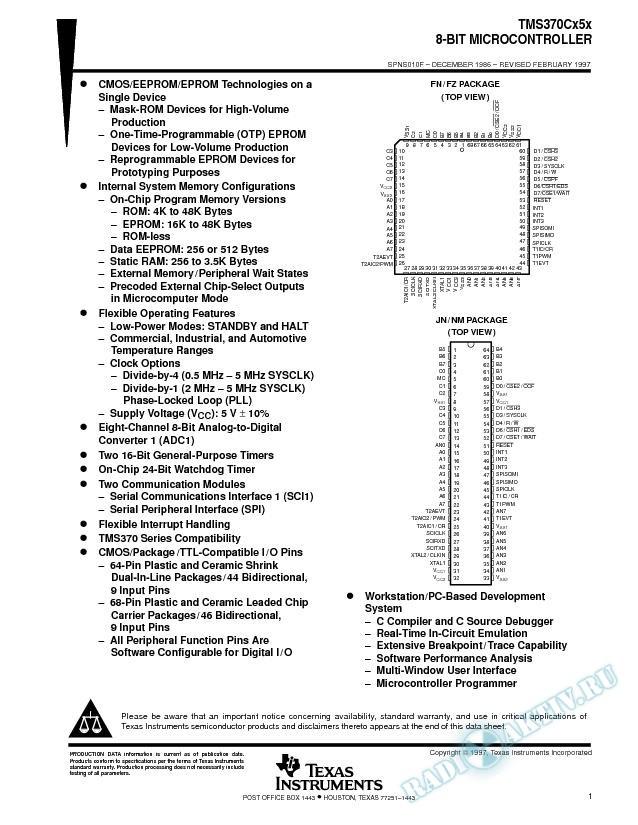 8-Bit Microcontroller (Rev. F)