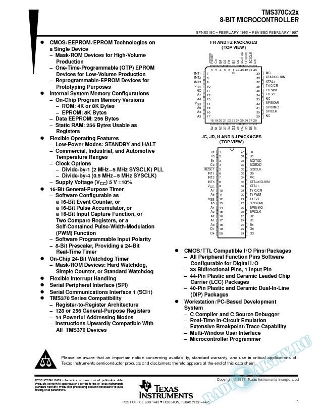 8-Bit Microcontroller (Rev. C)