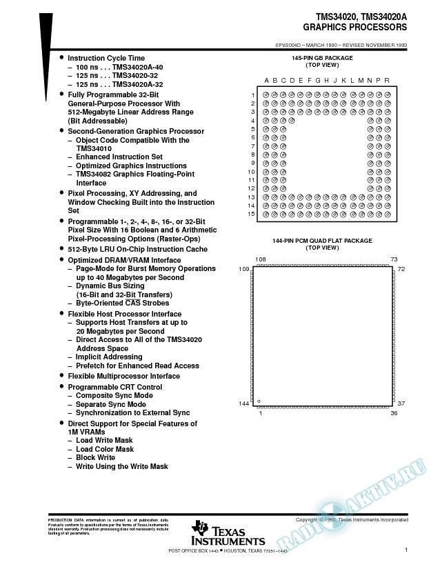 Graphics Processors (Rev. D)