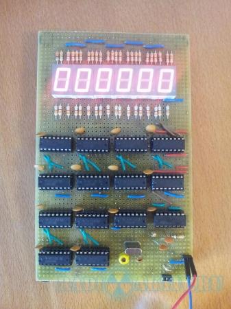 Частотомер 1...999999 Гц на КМОП логике