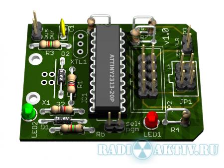Создаём 3D модель печатной платы из EAGLE Layout Editor