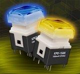 NKK Switches анонсирует нажимные кнопки с подсветкой на светодиодах красно-зелёно-синей гаммы