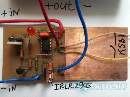 Электронный предохранитель на полевом транзисторе
