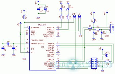 USBasp - USB программатор для Atmel AVR микроконтроллеров