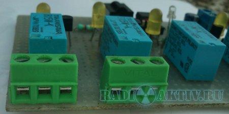 ИК управление четырьмя нагрузками с использованием NEC протокола на PIC12F615 и PIC12F675