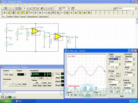 Tina 9 TI - программа для моделирования схем
