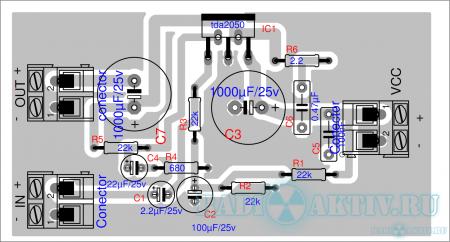 Усилитель НЧ Hi-Fi 32 Вт на TDA2050
