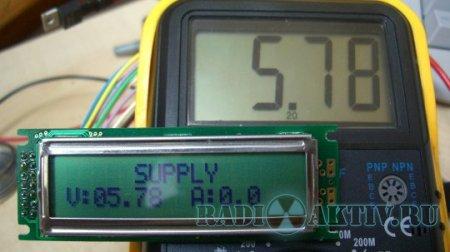 Лабораторный блок питания с LCD на LM317(LM338) и PIC16F873