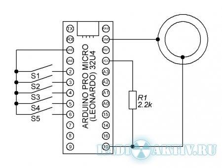 Программатор ключей Ibutton RW1990 на arduino