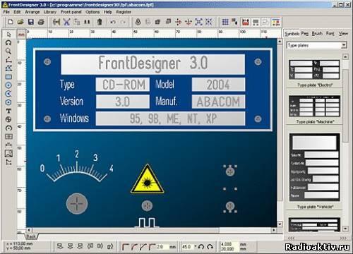 FrontDesigner – программа для рисования лицевых панелей корпусов различных устройств