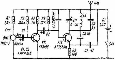 Радиомикрофон на 87.9 МГц