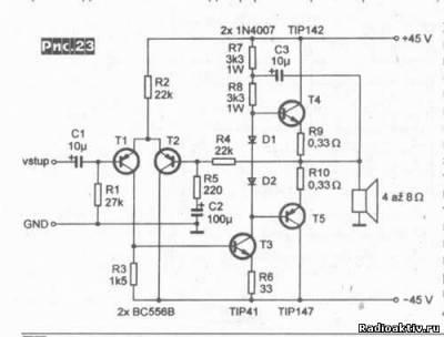 Одноканальный транзисторный усилитель 100Вт