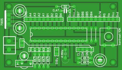 Рисунок печатной платы микроконтроллерного блока управления