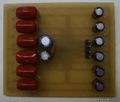 Фотография собранной печатной платы блока регулятора на TDA7448