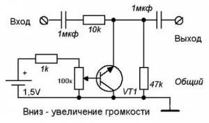Схема одного канала