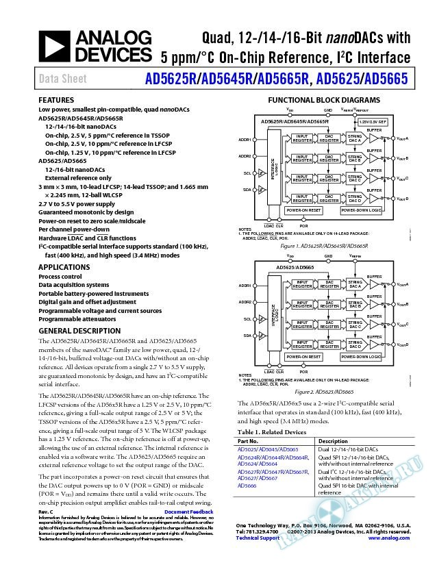 AD5625R/AD5645R/AD5665R/AD5625/AD5665