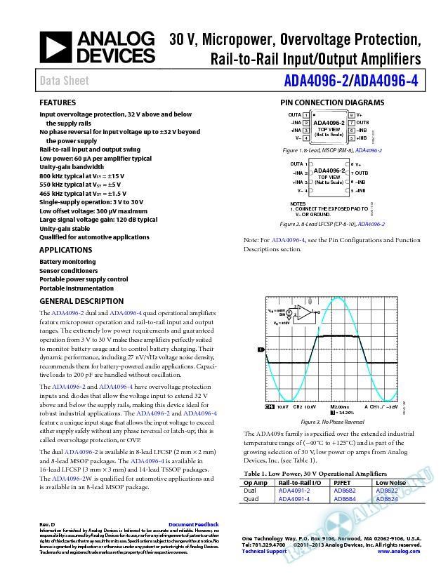 ADA4096-2/ADA4096-4