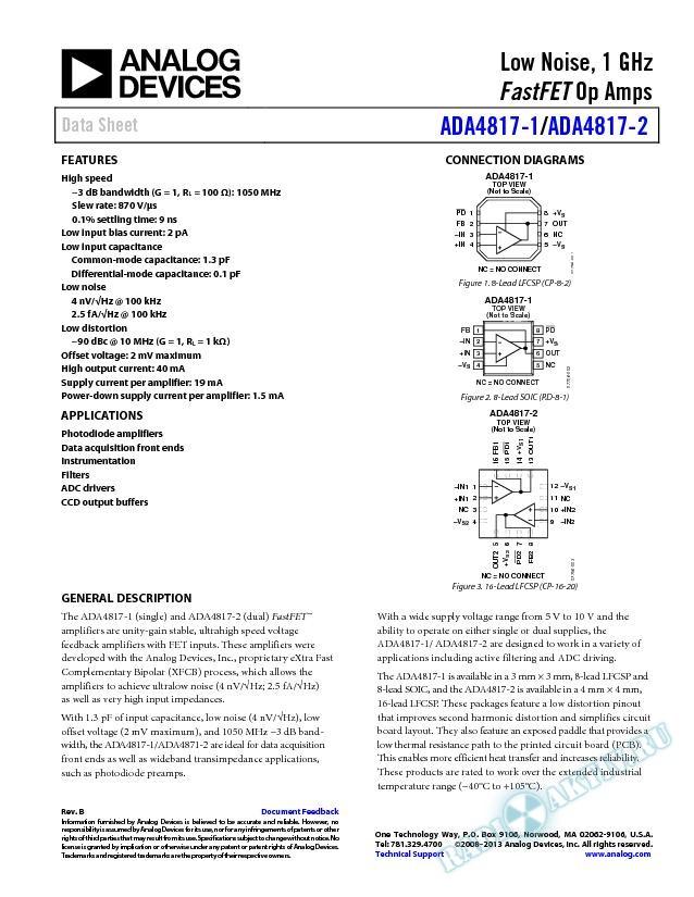 ADA4817-1/ADA4817-2