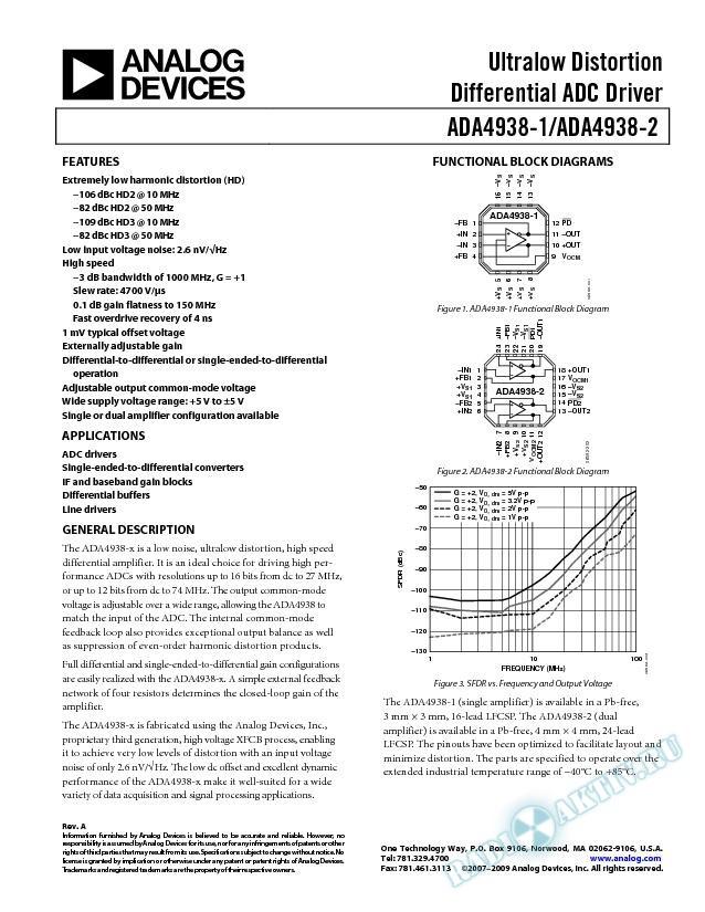 ADA4938-1/ADA4938-2