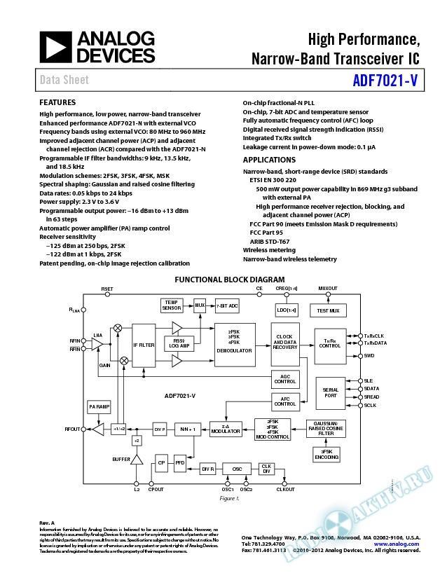 ADF7021-V