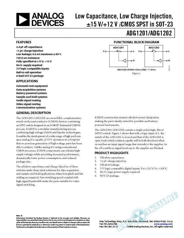 ADG1201/ADG1202