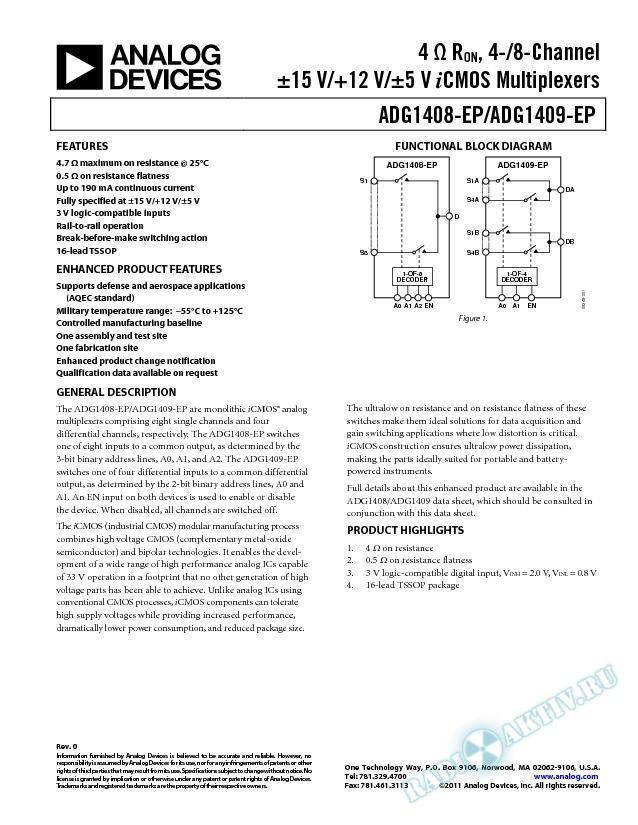 ADG1408-EP/ADG1409-EP