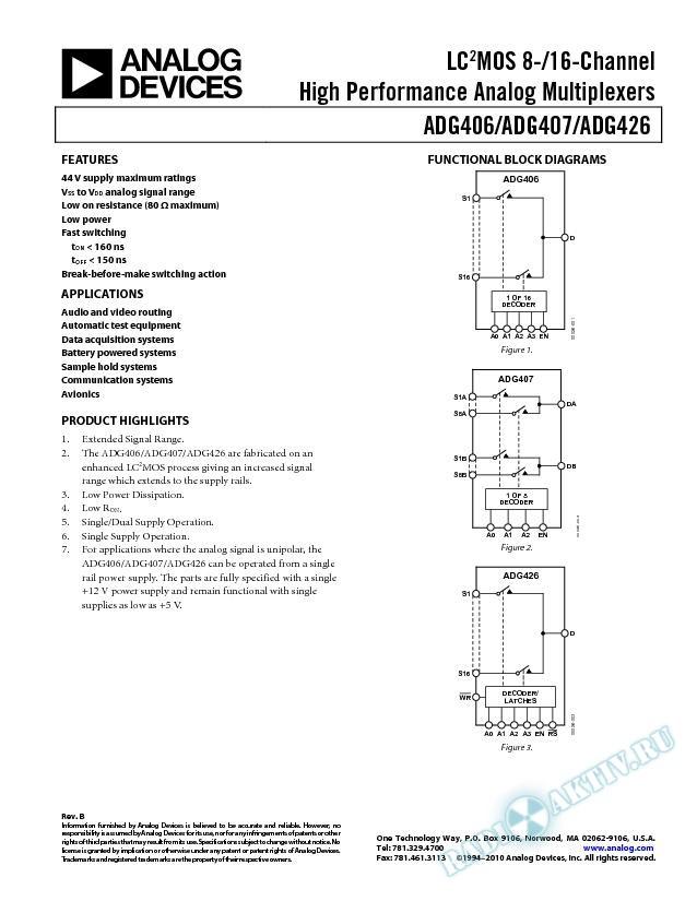 ADG406/ADG407/ADG426