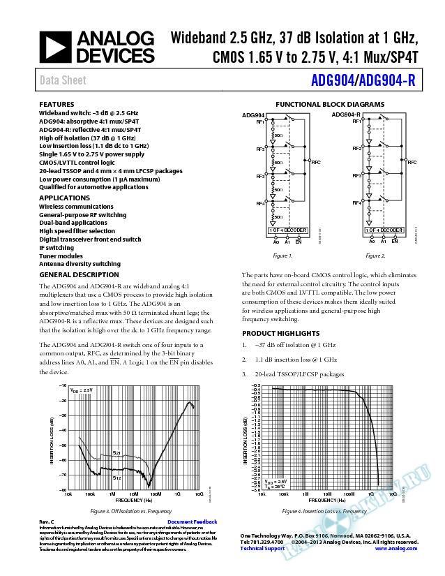 ADG904/ADG904-R