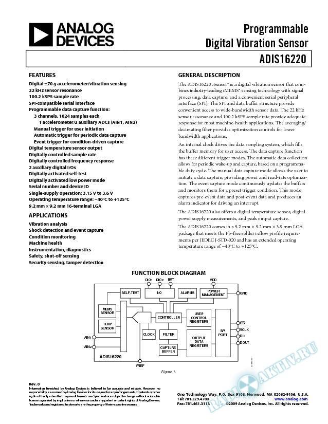 ADIS16220