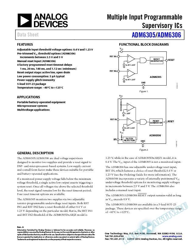 ADM6305/ADM6306