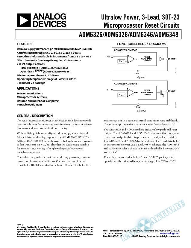 ADM6326/ADM6328/ADM6346/ADM6348