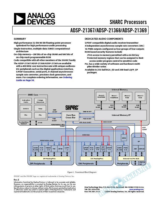 ADSP-21367/ADSP-21368/ADSP-21369