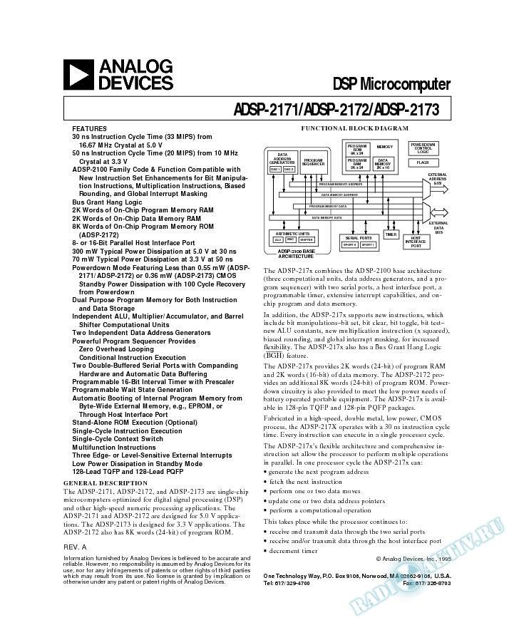 ADSP-2171/ADSP-2173
