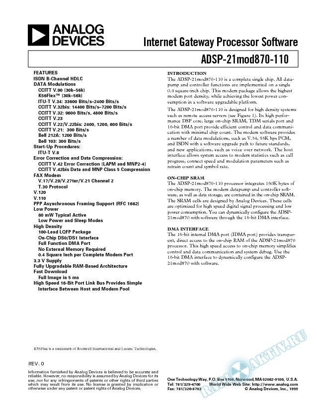 ADSP-21MOD870-110