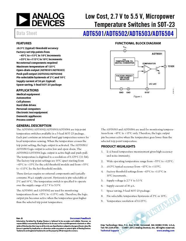 ADT6501/ADT6502/ADT6503/ADT6504