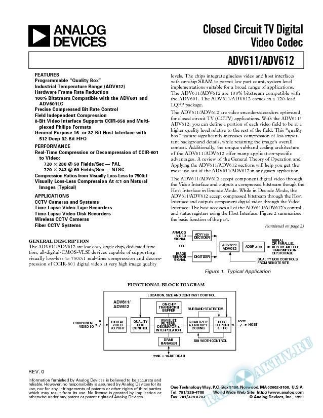 ADV611/ADV612