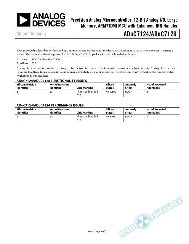 ADuC7124/ADuC7126