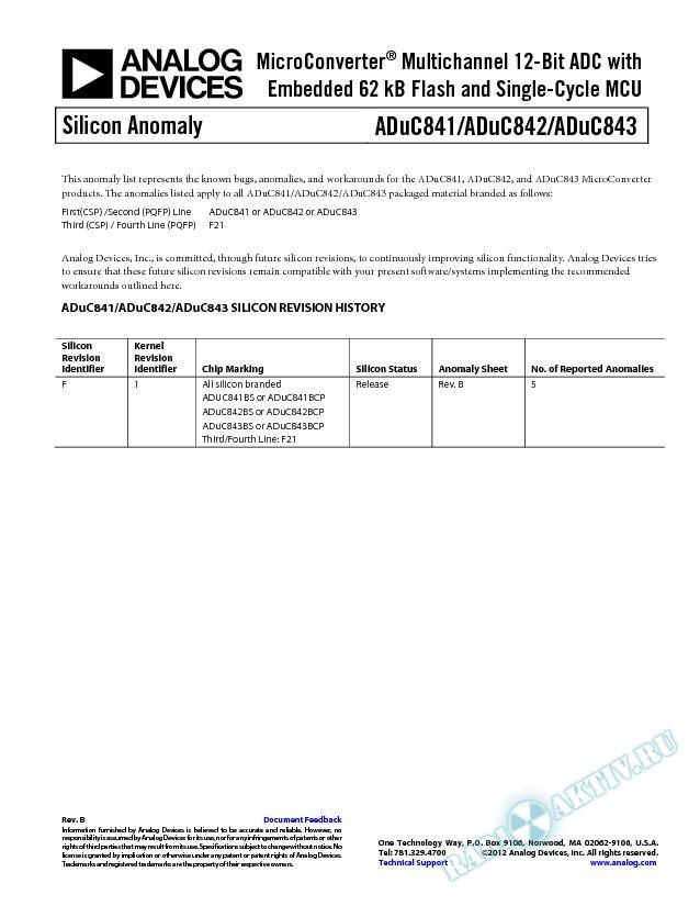 ADuC841/ADuC842/ADuC843