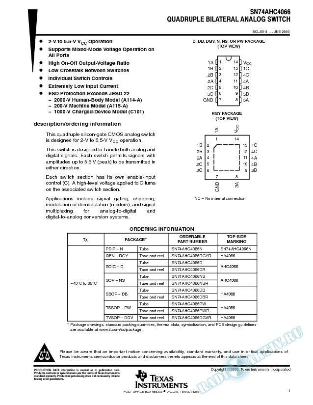 SN74AHC4066