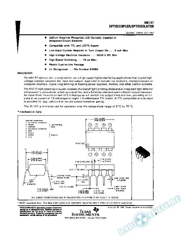 Optocoupler/Optoisolator