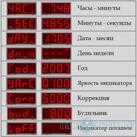 Часы - будильник на микроконтроллере PIC16F628A