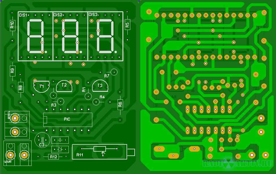 Простой встраиваемый вольтметр 30В на PIC16F676.