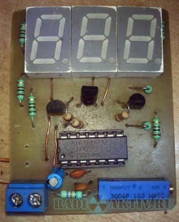 Простой встраиваемый вольтметр 30В на PIC16F676
