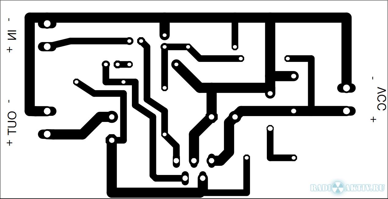 Circuito de amplificador de potкncia de бudio com tda2050 para 32.