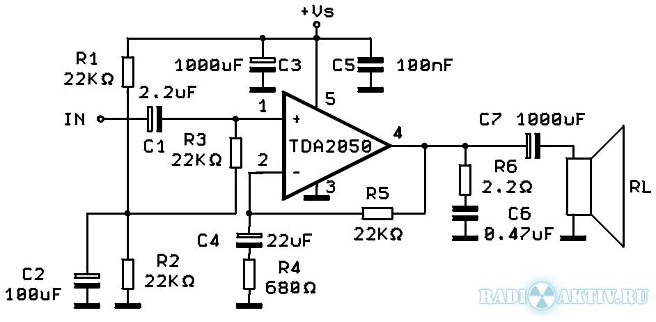Усилитель НЧ Hi-Fi 32 Вт на