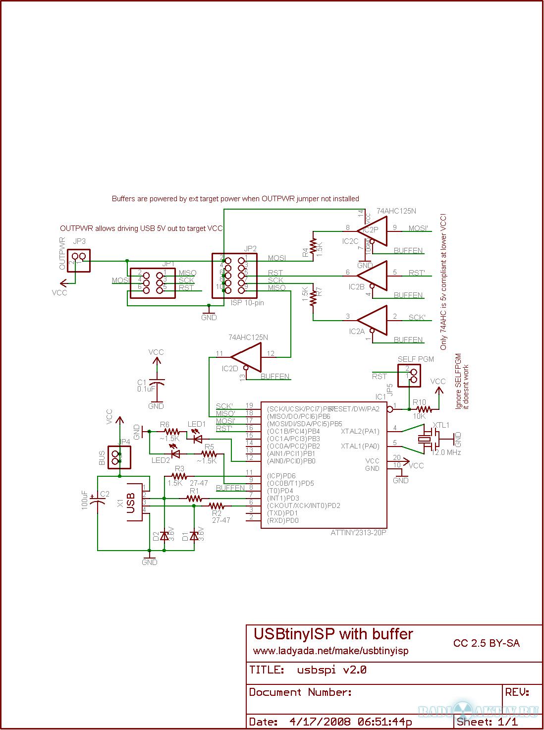 Stk500 Программатор Схема