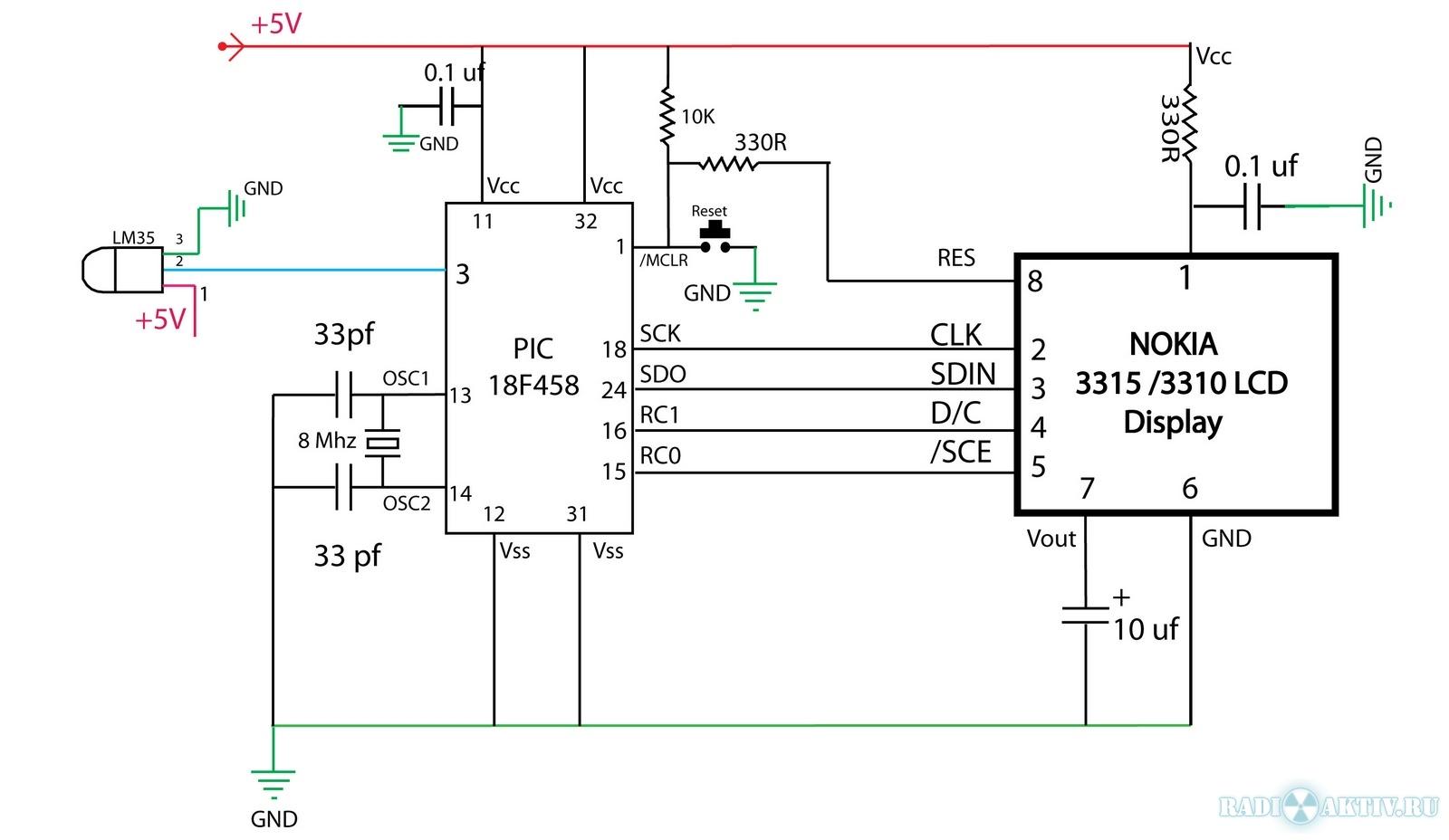 tidygavtax lcd nokia pic circuit